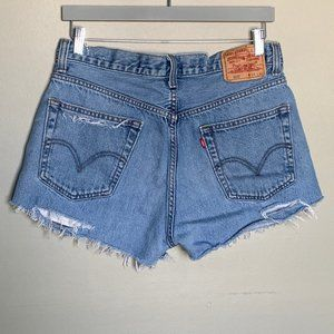 Levi's 505 distressed cutoff jean shorts